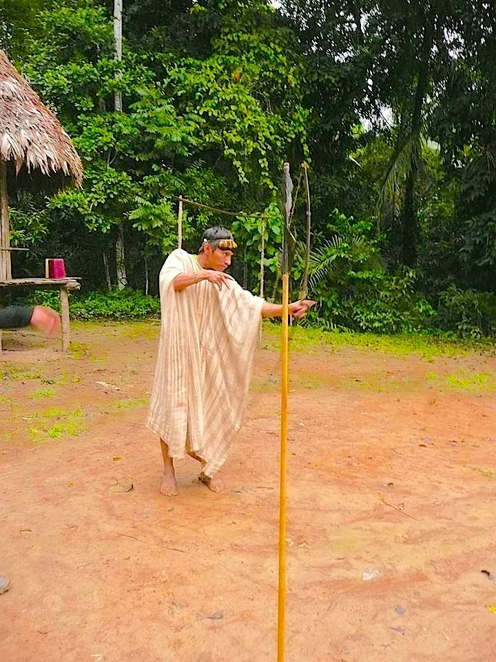 Manu native and volunteer people